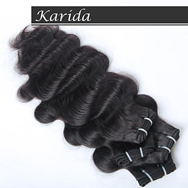 3 пс / много оптовая индийские волосы Remy индейца оптом, karida сырой необработанный девственница индийские волосы