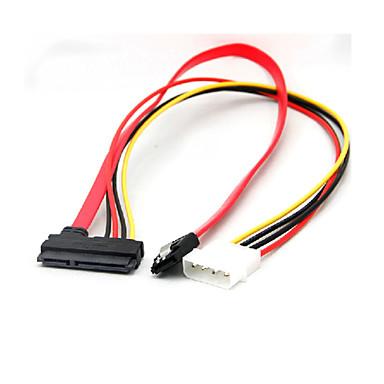 22 pin SATA táp adatok 4-tűs IDE molex& SATA port csatlakozó kábel