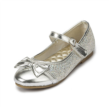 Girls' Shoes Wedding/Party & Evening Round Toe Stretch Satin Flats Pink/Silver/Gold