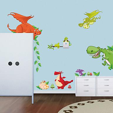 falimatrica fali matricák, aranyos színes pvc kivehető a rajzfilm dinoszaurusz falimatrica.