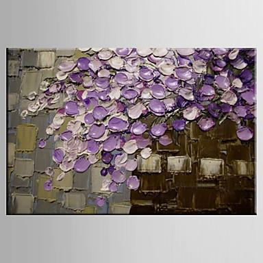 El-Boyalı Manzara / Natürmort / Çiçek/BotanikModern Tek Panelli Kanvas Hang-Boyalı Yağlıboya Resim For Ev dekorasyonu