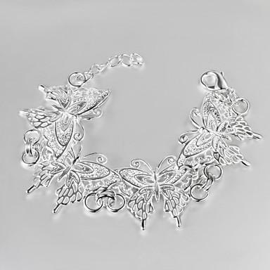 argenté décontracté papillon bracelet à breloques en or remplis bracelets de vente de produits chauds