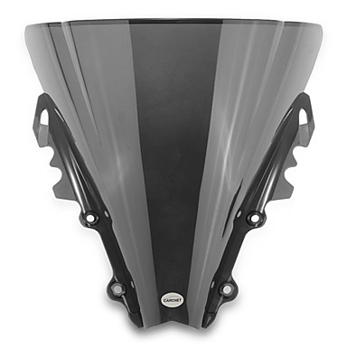 Motorcycle Windshield Wind Shield Screen Black for Yamaha R6 2006-2007