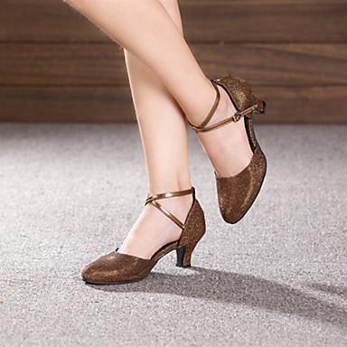 Μη δυνατότητα προσαρμογής - Μοντέρνο - Παπούτσια Χορού - με Κουβανέζικο Τακούνι - από Αστραφτερό Γκλίτερ/Paillette - για Γυναικεία
