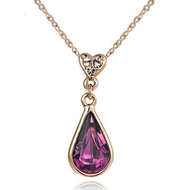 Naisten Riippua Heart Heart Riipus-kaulakorut Kristalli Metalliseos Riipus-kaulakorut ,