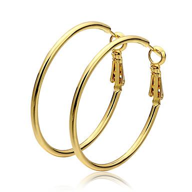 נשים טבעות חישוקים תכשיטים מוזהב Circle Shape תכשיטים עבור