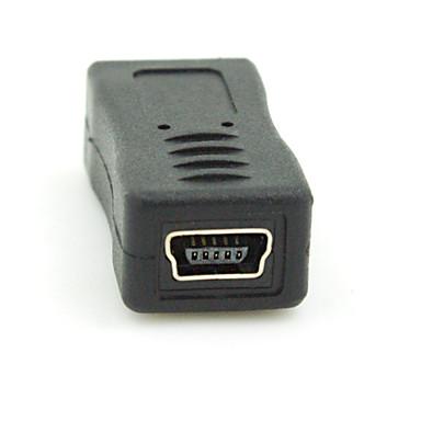 Micro USB 2.0 dugó a mini USB 2.0 female átalakító csatlakozó dugó adapter