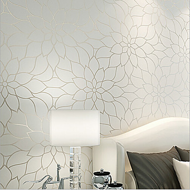 New Rainbow™ Contemporary Wallpaper Floral Simple and Elegant Wall TV Background Covering Non-woven Paper Wall Art
