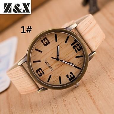 baratos Relógios Homem-Mulheres Relógio de Pulso Quartzo Couro Cores Múltiplas Venda imperdível Analógico senhoras Vintage Listras Fashion - # 4 # 5 # 6