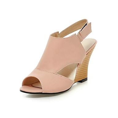 Chaussures à bout ouvert roses femme JigHu2