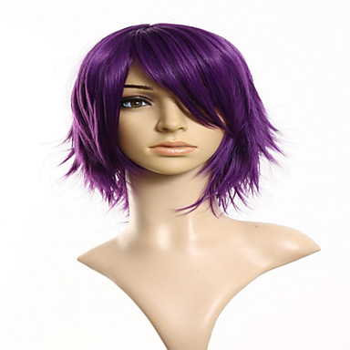 Synthetic Wig Body Wave Synthetic Hair Purple Wig Women's Capless