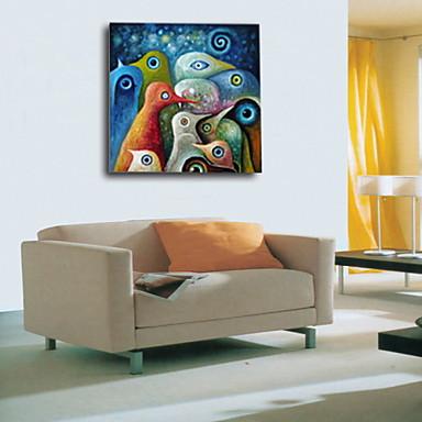 öljymaalauksia yksi paneeli abstrakti käsin maalattu kankaalle valmis ripustaa