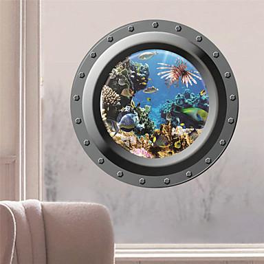Paysage Stickers muraux Autocollants muraux 3D Autocollants muraux décoratifs, Vinyle Décoration d'intérieur Calque Mural Mur