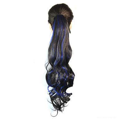 Mikroring Haar-Verlängerung Wellen Haarstück Haar-Verlängerung 18 Zoll Regenbogen