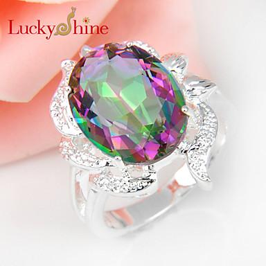 Муж. Женский Массивные кольца Классика Мода Топаз Бижутерия Для вечеринок