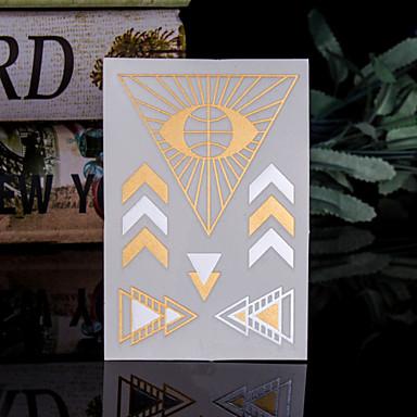 Tatuointitarrat Toteemisarja - Paperi - Kuvio/Hawaiian/Alaselkä/Waterproof - Totem - 14*9*0.2cm - Kulta/Monivärinen/Hopea - 4 Pieces -