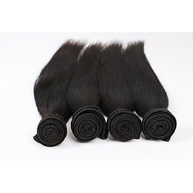 бразильский девственные волосы прямые ткачество