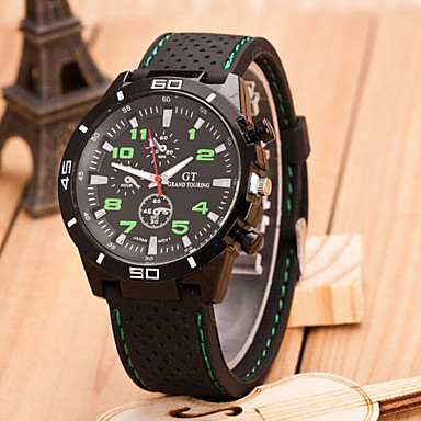 Men's Quartz Wrist Watch Cool / Casual Watch Rubber Band Casual / Word Watch Black