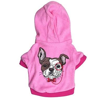 Кошка Собака Толстовки Одежда для собак Мультипликация Синий Розовый Флис Хлопок Костюм Для домашних животных Жен. На каждый день