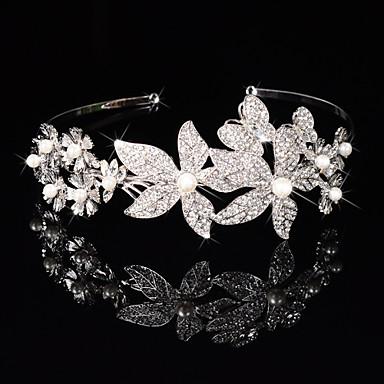 Damen Blumenmädchen Sterlingsilber Legierung Kopfschmuck-Hochzeit Besondere Anlässe Stirnbänder Blumen Kränze 1 Stück