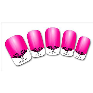 Lovely Lace Diamond Cartoon Finger Nail Stickers