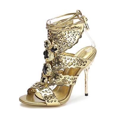 Ženske cipele-Sandale-Ležerne prilike / Zabava i večer / Formalne prilike-Koža-Stiletto potpetica-Štikle / Salonke s remenčićem /