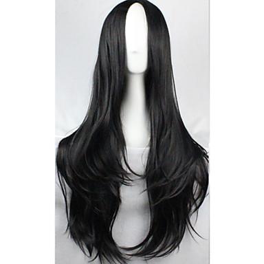 Naisten Synteettiset peruukit Koneella valmistettu Musta Costume Wig puku Peruukit