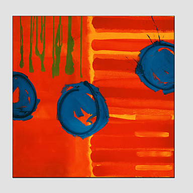 El-Boyalı Soyut Dörtgen, Avrupa Tipi Modern Tuval Hang-Boyalı Yağlıboya Resim Ev dekorasyonu Tek Panelli