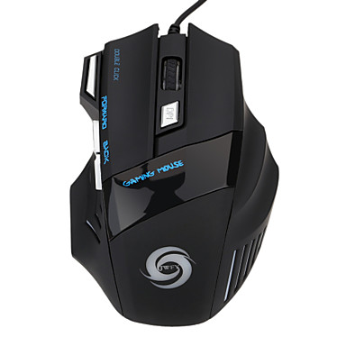 Factory OEM Wired USB Gaming Mouse Optisch 7 pcs Schlüssel Led Atemlicht 5 einstellbare DPI-Stufen 1200/1600/2400/3200/5500 dpi
