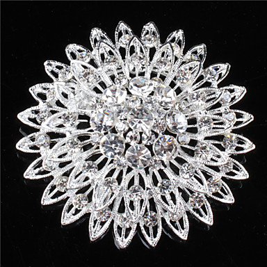Women's Brooches & Pins With Rhinestone/Crystal/Diamond