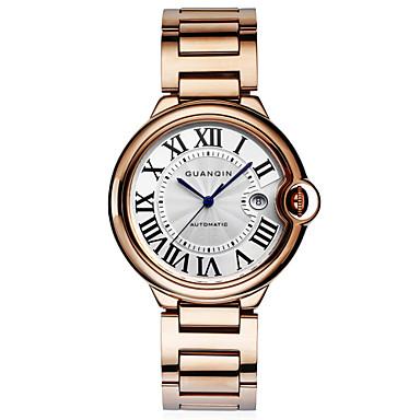 Herren Armbanduhr Automatikaufzug Kalender / Wasserdicht Edelstahl Band Silber / Gold / Rotgold Marke