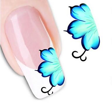 1pcs Wasser Transfer Aufkleber 3D Nagel Sticker Nagel Stamping Vorlage Alltag Blume Abstrakt Modisch Gute Qualität