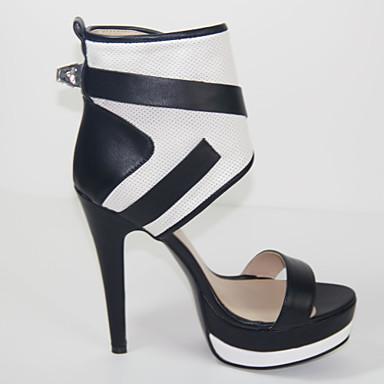 Boucle A Similicuir amp; 03773730 Eté Femme Aiguille Evénement Soirée Carreaux Talon Chaussures Fermeture Evénement Soirée Noir amp; X0wFqxgU