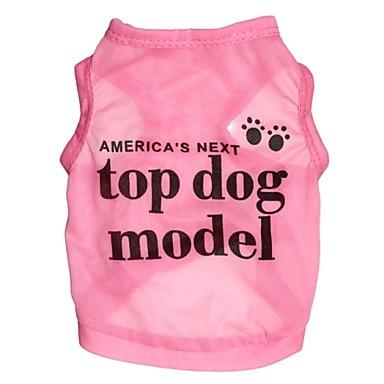 Katt Hund T-shirt Hundkläder Bokstav & Nummer Ros Blå Terylen Kostym För husdjur Cosplay