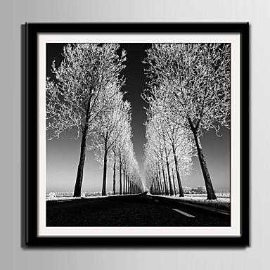 Landscape Bekeretezett vászon / Bekeretezett szett Wall Art,PVC Fekete Háttéranyaggal a Frame Wall Art