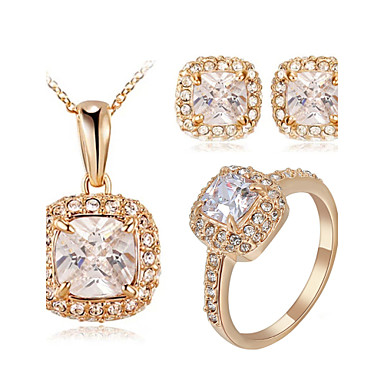 Women's Crystal Jewelry Set - Crystal, Cubic Zirconia, Imitation Diamond Classic Include For Wedding / Party / Daily