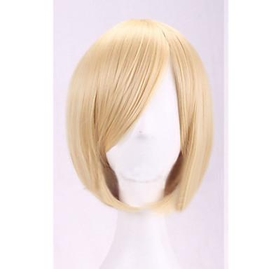 Femme Perruque Synthétique Sans bonnet Raide Blonde Perruque de Cosplay Perruque Halloween Perruque de carnaval Perruque Déguisement