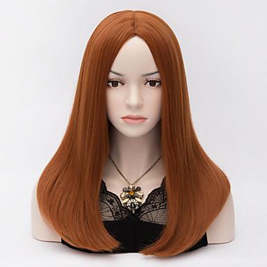 Kobieta Peruki syntetyczne Tkany maszynowo Medium Proste #350 Costume Wig Costume Peruki