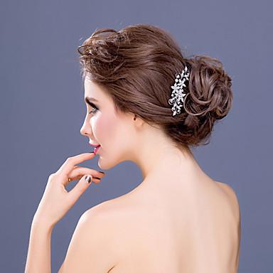 elmas taklidi alaşım saç tarak başlığı klasik kadınsı stil