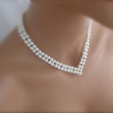 d0428abb5e25 Mujer Gargantillas   Collar de hebras   Collar con perlas - Perla Moda  Blanco Gargantillas Para