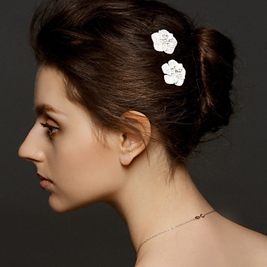 Women's Alloy Headpiece-Wedding Special Occasion Hair Pin 2 Pieces