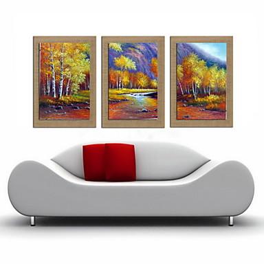 öljymaalaus koristelu abstrakti maisema käsinmaalatut pellavalle venytetty kehystetty - 3 kpl