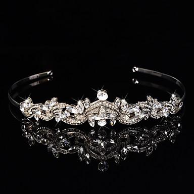 bandeaux en alliage d'argent sterling fleurs couronnes style élégant