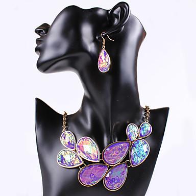 Women's Rhinestone Jewelry Set Jewelry Set - Beige, Purple, Green