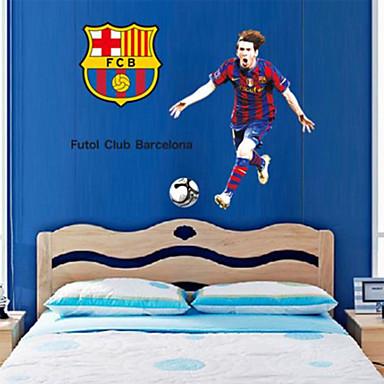 αυτοκόλλητα τοίχου αυτοκόλλητα τοίχου, συναρπαστικό Andres ποδόσφαιρο Messi PVC αυτοκόλλητα τοίχου
