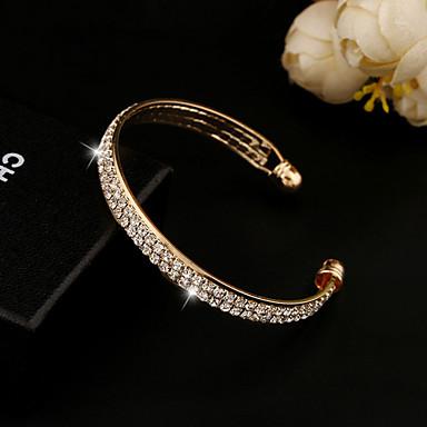 Kristall Strass / Diamantimitate / 18K Gold Niedlich Manschetten-Armbänder - Einzigartiges Design / Retro / Party Gold / Silber Armbänder