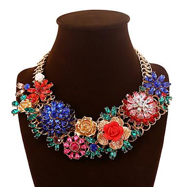 Damen Gestalten Mehrfarbig Schmuck mit Aussage Modisch Perlenkette Statement Ketten Kristall Perle Aleación Perlenkette Statement Ketten