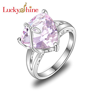 Women's Statement Ring - Silver Fashion 7 / 8 / 9 For Party