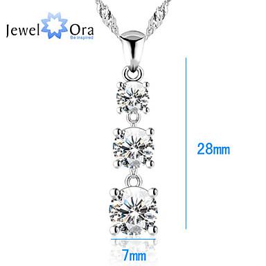 Жен. Ожерелья с подвесками Цирконий Ожерелья с подвесками Бижутерия