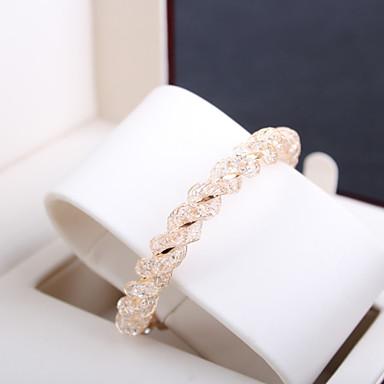 Femme Perle Manchettes Bracelets - Strass Original, Européen, Style Simple Bracelet Doré Pour Regalos de Navidad / Mariage / Soirée